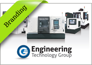 Engineering Technology Group logo redesign, branding, advertising campaign, brochure, email campaign