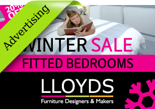 Lloyds Bedrooms branding, advertising campaign, leaflet