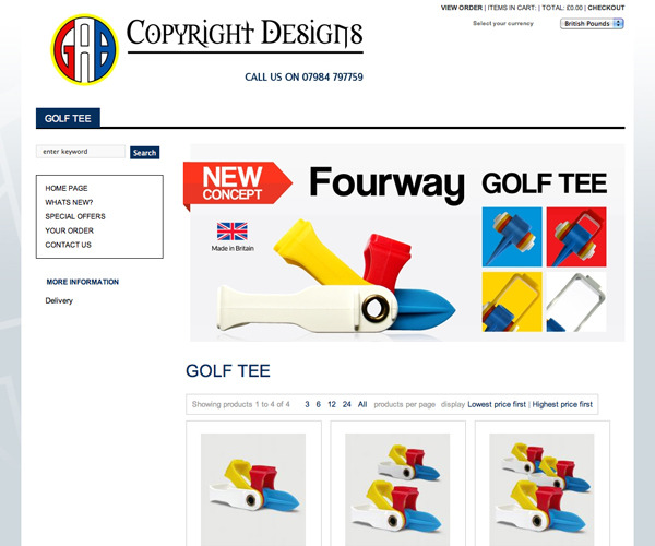 GAC Copyright Designs eCommerce Website