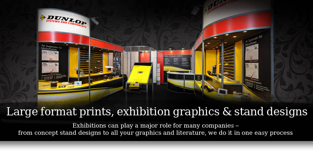 Large format prints, exhibition graphics & stand designs